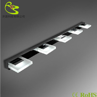 15w bathroom led mirror front light in led wall lamp 1350lm 85-265v 360degree rotation makeup led panel mirror wall light 15w