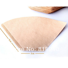 100 X Filter Paper for Coffee Dripper Pot Unbleached Maker Replacement Cafe New(China (Mainland))