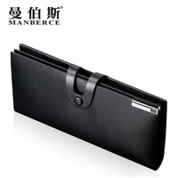 leather wallet male elegant commercial cowhide long design wallet multi card holder purse wallet