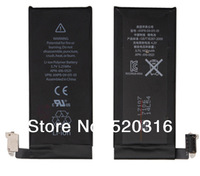 100pcs/lot Competitive price for Wholesales by DHL UPS,1420mAh 100% original replacement battery for iphone 4 4G iphone4 battery