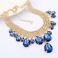 Fashion  metal mix match drop tassel necklace