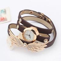 Fashion personalized accessories bracelet exquisite sparkling  wings bracelet watch popular multi-layer bracelet