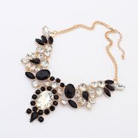 Fashion magazine geometry design short necklace bohemia  cuicanduomu gem false collar neon color necklace