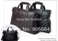Free shipping.100% genuine leather bag,brand fashion handbag.men message bag,shoulder.briefcase.style.2014