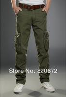 Spring new cotton J men's cotton trousers men's overalls multi-pocket pants overalls outdoor sportsTwo colors