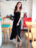 Medium-long chiffon one-piece dress sleeveless slim ol elegant full dress