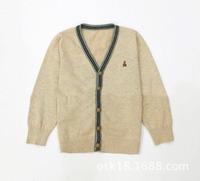 Children boys outerwear sweater cardigan Kids fashion single breasted V-neck desigual sweater coat IG-625 Free shipping