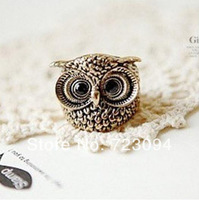 Min.order is $10 (mix order) Hot Vintage Retro Style Owl Shape Rings NEW DY80