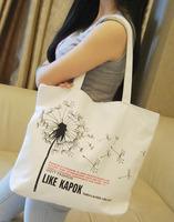 Casual bag shoulder bag handbag  female big canvas bag  travel bag