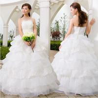 2014 latest white wedding dress organza Strapless lace vintage wedding gown berta bridal gown slim brush trail wedding dress