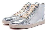 2014 new red bottom  High Top Men Sneakers Men\'s Flat Silver Fashion men shoes size 39-46