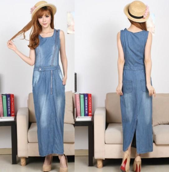 Chic Blue Jeans Slim Denim Blue Jeans Long