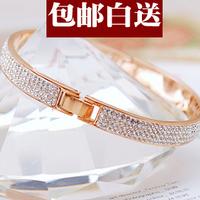 Fashion luxury full rhinestone rose gold bracelet female color gold bracelet fashion jewelry accessories jewelry