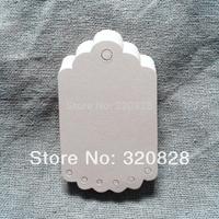 5.5*9cm Blank DIY Scrapbook Paper wedding party Gift Tags(no string) Retro decoration Hang tags baking packing labels 300pcs/lot