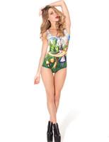 RESUN KNITTING black milk Alice and Caterpillar Swimsuit - LIMITED 2014 digital print fashion green bugs sexy one-piece women