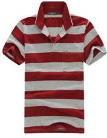 FREE SHIPPING Wholesale 100% Cotton Fashion Clothing Men Shirt, Man t-shirts Short Sleeve Casual Man 19