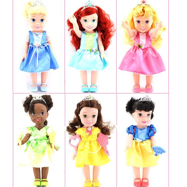 Original box Princess 15 Inch princess baby Doll for girls for Cinderella / Snow White /Mermaid doll(China (Mainland))