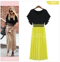 Milan Fashion ; summer Slim fit women casual dress ; maxi Wild praty dresses ; vestidos ropa mujer; saias femininas, XXXXL
