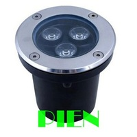 3W LED underground light IP68 Buried recessed floor outdoor lamp DC12V or AC85-265V CE&ROHS by DHL 10pcs