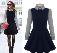Milan Fashion ; spring autumn women casual dress ; retro praty dresses ; vestidos de festa ; ropa mujer; saias femininas