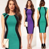 Milan Fashion ; Slim fit women sexy bodycon dress ; patchwork praty dresses ; vestidos de festa ; ropa mujer; saias femininas