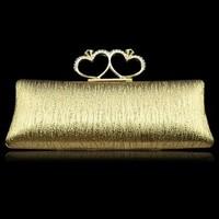 2014 new fashion Diamond Evening Clutch Bag Heart Shape Finger Ring Rhinestones Dinner Bag/Handbag XP137