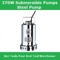 370W stainless steel submersible pump/automatic water pumping machine with float ball/sewage pump