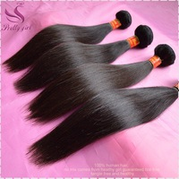 5A Unprocessed Queen hair Products 4Pcs /Lot Straight Brazilian Virgin Hair Extension Natural Color Human Hair Weave No Tangle