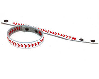 white baseball seam bracelets,baseball wristband