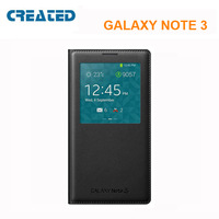 Hot sale For Sumsung galaxy Note 3 phone leather case flip cover with s view window Free shipping