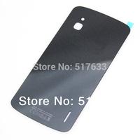E960 Battery Housing Glass for LG Google Nexus 4 E960 battery Back Rear Housing Cover Case Black ,Free shipping+tracking No.