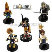 5pcs Final Fantasy Sephiroth Yuna Zidane Figure Set,Cute Version