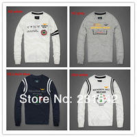 High Quality Men 100% Cotton British  Fashion Embroidery O-Neck Long Sleeve T-shirt Man Soft Pattern Breathable Top Basic Tee