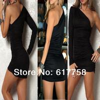 Sexy Bodycon NightClub Dress  Black Red or White Mini Slim Tight