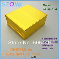 4  pieces a lot   electronic 2014 new  aluminum enclosure 40*97*80 MM1.57*3.82 * 3.15 inch aluminum box plastic box electronics