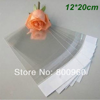 Wholesale 500Pcs/Lot 20cm*12cm Clear Self Adhesive Seal Plastic Bag OPP Poly Bag Retail Packaging Bag free shipping