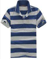 FREE SHIPPING 2014 Summer new man sport  striped short sleeve t-shirt   19