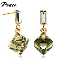 Piaci crystal stud earring fashion box earrings women's drop earring all-match anti-allergic accessories