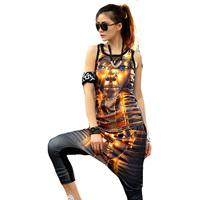 Tank Top+Trousers 2014 Summer women Iswag Sport Suit clothing set 3D Print Hoodie Sportswear tracksuit Sweatshirt Free shipping