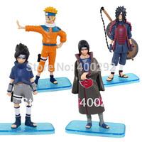 Japan Anime Film Figure Toy 4x Naruto Uzumaki Sasuke Madara Itachi Figure Set