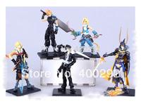 5pcs/set Anime Final Fantasy VII Cloud Squall Tidus Figures