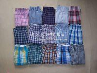 2014 Wholesale Male Loose Big Yards Boxers Cotton Apollo Shorts Grid Stripe Underwear M-XXL