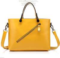 Genuine leather women's handbag 2014 New Hot  summer fashion handbag candy color cowhide totes handbag