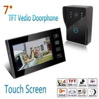 7 inch Wired Video Door Phone Doorbell Camera Intercom System Night Version EU Plug