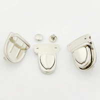 063 Free Shipping New 20 Sets Silver Closure Catch Tuck Lock for Leather Bag Case Clasp hangbag Purse Bag Parts & Accessories