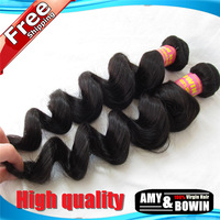 Grade 6A Peruvian Virgin Hair Weft Loose Wave 3pcs lot Unprocessed Remy human hair weave Tangle Free