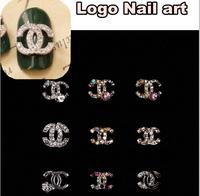 100pcs Brand Name Logo Rhinestone Nail Art Metal Charm100pcs Nail Art Alloy of 3D Nail Art Decoration NKB480-497