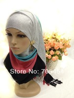 SYF046- high quality cotton muslim long scarf islamic hijab arabic shawl free shipping by DHL,fast delivery