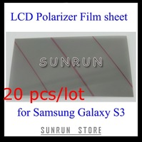 20 pcs/lot  Wholesale Polarized Film Sheet for Mobile Phone LCD for Samsung S3/i9300