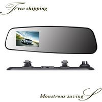 Full HD 1080P car dvr rearview mirror dvr rearview mirror recorder